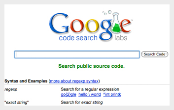 google code search Google Products For Web Developers