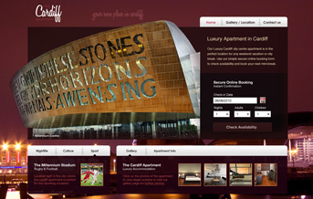 Cardiff Apartment Web Project